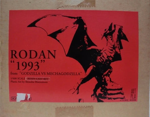 Kaiyodo 1/400 Artpla Godzilla vs Mechagodzilla Rodan 1993 Cold Cast Model Kit Figure