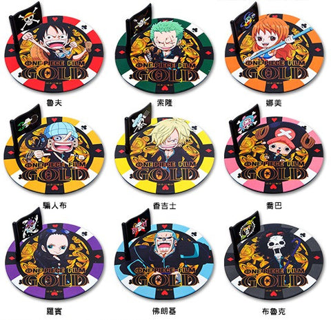 One Piece Film Gold Hi-Life Limited 9 Silicone Coaster Set - Lavits Figure
