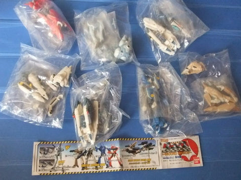 Bandai Robotech Macross Gashapon Second Mission 7 Trading Collection Figure Set