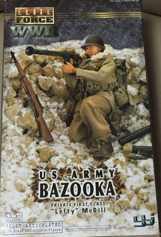 "BBi 12"" 1/6 Elite Force WWII US Army Bazooka Private First Class Lefty Mcgill Action Figure"