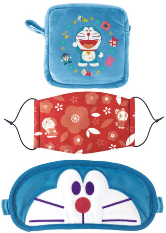 Doraemon Magic Props Taiwan 7-11 Limited Eye Mask & Mask Travel Sleep Set Doraemon ver