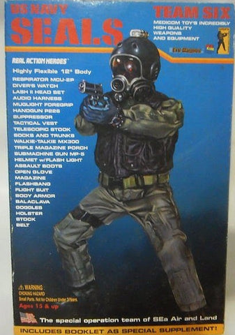 "Medicom Toy 1/6 12"" RAH Real Action Heroes US Navy Seals Team Six Figure"