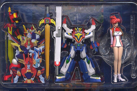 Yujin Sunrise Hero Collection Part 2 A Set Gaogaigar Mado King Granzort Trading Figure Set - Lavits Figure