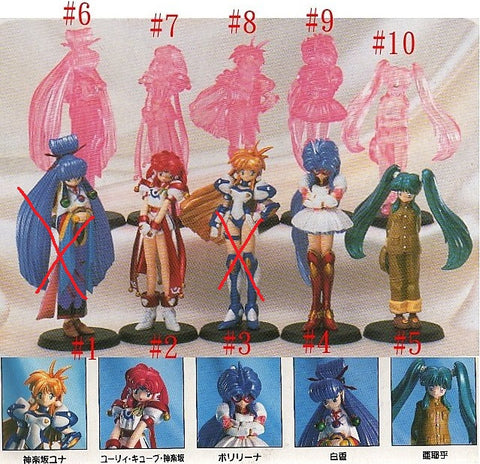 Re-ment 1999 Galaxy Fraulein Yuna 8 Trading Collection Figure Set - Lavits Figure