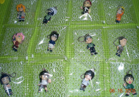 Morinaga Naruto Shippuden 12 Mini Trading Mascot Key Chain Holder Figure Set - Lavits Figure