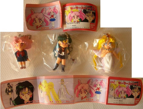 Bandai Pretty Soldier Sailor Moon R Gashapon Capsule Part 2 Special 3 Mini Figure Set - Lavits Figure
