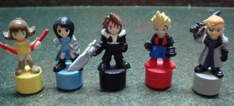 Authentic Final Fantasy VIII 8 Gashapon Capsule 5 Mini Trading Collection Pencil Figure Set - Lavits Figure  - 1