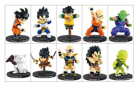 Bandai Dragon Ball Z Deformation Saiyan Invasion 10 Mini Trading Figure Set - Lavits Figure