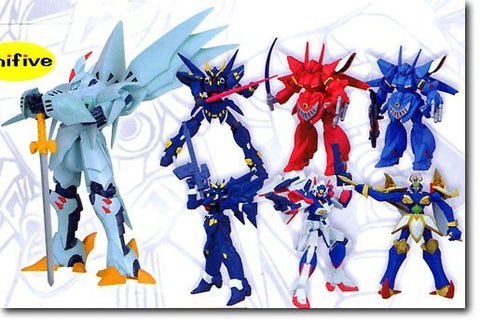 Unifive Super Robot War Original Collection Figure Part 2 7 Trading Figure Set - Lavits Figure  - 2