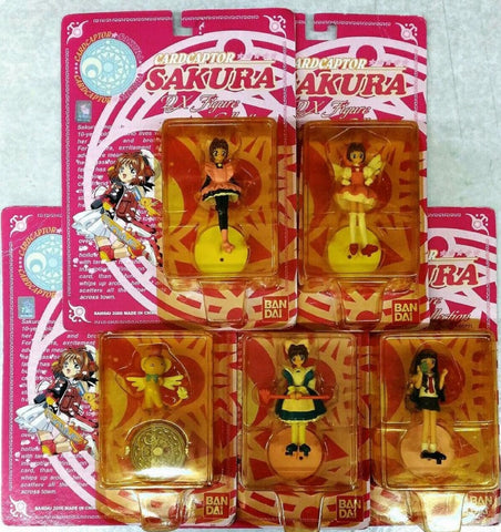 "Bandai Clamp Card Captor Sakura DX Collection 5 3"" Trading Figure Set"