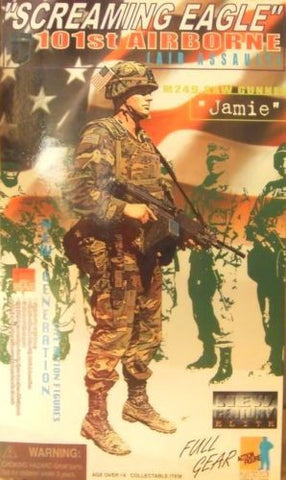 "Dragon 1/6 12"" Screaming Eagle 101st Airborne M249 Gunner Jamie Action Figure - Lavits Figure"