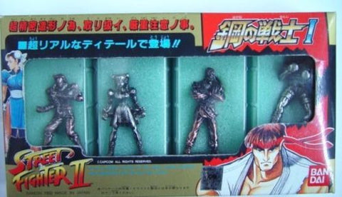 Bandai 1992 Street Fighter Metal Iron Part Vol 1 4 Mini Collection Trading Figure Set - Lavits Figure