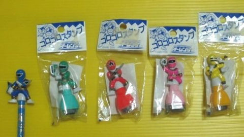 Power Rangers Zeo Ohranger 5 Pancil Stamp Mini Collection Trading Figure Set - Lavits Figure