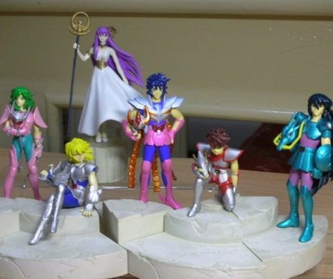 Banpresto Saint Seiya Myth Cloth Diorama Blue Forever Part 1+2 6 Color Trading Collection Figure Set Used