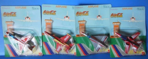 Coca Cola Airplane 4 Collection Figure Set