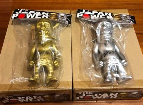 "Secret Base 2011 Usugrow Rebel Ink The Japan Power Gold & Silver 7"" Vinyl Figure Set"