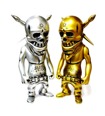 "Secret Base 2011 Usugrow Rebel Ink The World Power Gold & Silver 7"" Vinyl Figure Set"