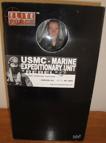 "BBi 12"" 1/6 Elite Force USMC Marine Expeditionary Unit Rebel 2001 Special Edition Action Figure"