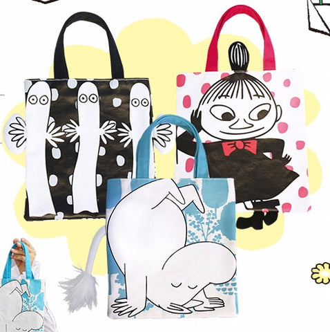 "The Story of Moomin Valley Taiwan Watsons Limited 3 9"" Tote Bag Set"