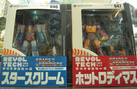 Kaiyodo Revoltech Transformers 046 & 047 Action Figure Set
