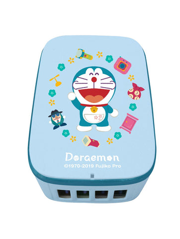 Doraemon Magic Props Taiwan 7-11 Limited 4 USB Power Supply Doraemon ver