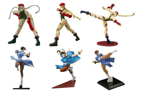 Yamato Capcom Street Fighter Heroines Chun Li & Cammy 6 Collection Figure Set - Lavits Figure  - 1