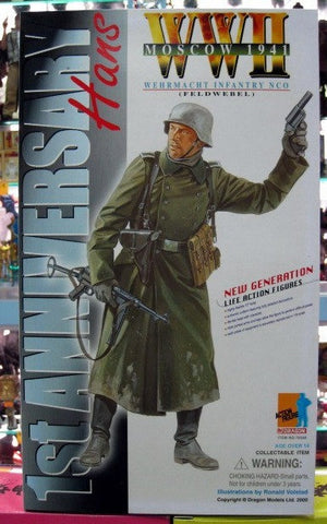 "Dragon 12"" 1/6 WWII Moscow 1941 Wehrmacht Infantry Nco Feldwebel 1st Anniversary Hans Action Figure - Lavits Figure  - 1"