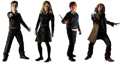 Neca Harry Potter With Wand & Base Series 1 4 Figure Set Ron Hermione Sirius - Lavits Figure  - 1