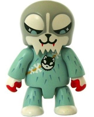 "Toy2R 2006 Qee Key Chain Collection 2.5"" Husky Hunter Grey Mini Action Figure - Lavits Figure  - 1"