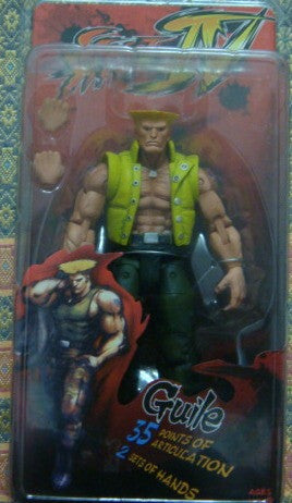 Neca 2009 Street Fighter IV SDCC Exclusive Guile Yellow Ver Action Figure