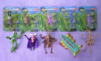Yujin Disney Pixar A Bug's Life Gashapon Capsule 10 Mini Figure Set - Lavits Figure  - 1