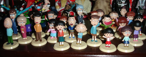 Popy Chibi Maruko Chan 24 Trading Collection Figure Set Used - Lavits Figure