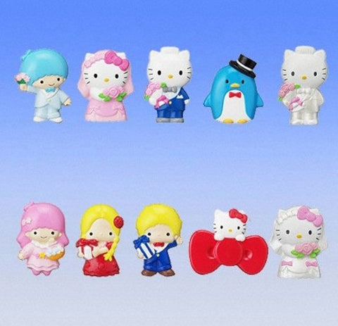 Bandai Sanrio Gashapon Sanrio Magnet Part 11 Wedding Party 10 Figure Set - Lavits Figure