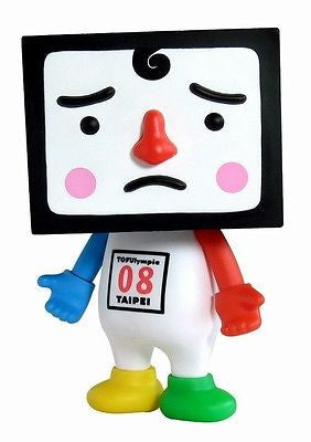 "Medicom Toys 2008 Vinyl Collectible Dolls VCD TTF To-Fu 08 Tofulympic 8"" Figure - Lavits Figure"