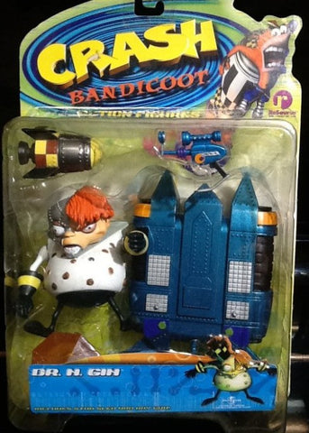 Resaurus 1999 Crash Bandicoot Action Series 2 Dr. N Gin Figure - Lavits Figure