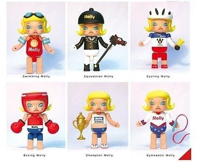 "Kenny's Work Kenny Wong Molly Mollympic Olympic Series 1 3""  6 Action Figure Set - Lavits Figure"