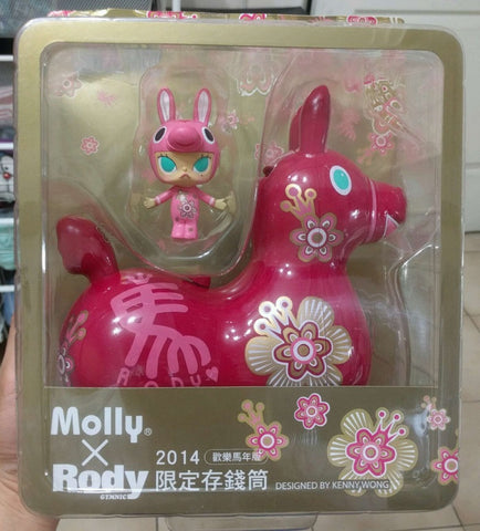 "Kenny's Work 2014 Kenny Wong Molly x Rody Taiwan Family Mart Limited Happy New Year Red Ver 7"" Coin Bank Figure - Lavits Figure"