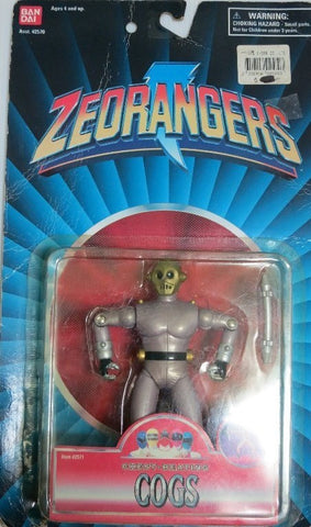 "Bandai 1996 Power Rangers Zeo Ohranger Chest Beating Cogs 5"" Trading Action Figure - Lavits Figure"