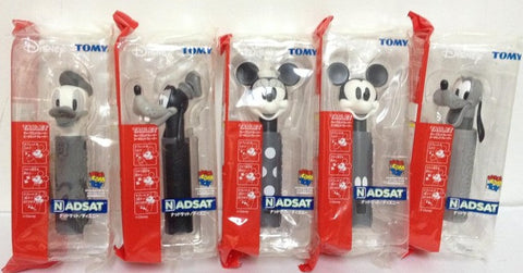 Medicom Toy Tomy Disney Tablet Nadsat Mickey Minnie Bluto Donald Duck Pluto 5 Monochrome Ver Figure Set - Lavits Figure