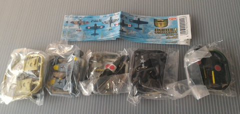 Yujin World War 2 WWII Fighter Collection Jet Gashapon 5 Trading Figure Set