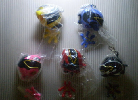 Bandai Power Rangers Megaforce Goseiger 5 Mascot Strap Figure Set - Lavits Figure  - 1