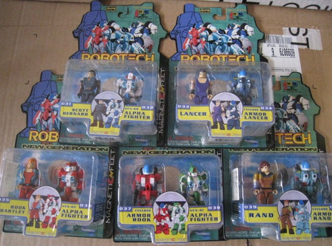 Toynami Robotech New Generation I-Men Magnetic Feet #031~#040 10 Action Figure Set - Lavits Figure  - 1