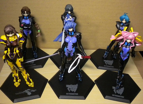 Volks Muv-Luv M.O.E. Age Burning Alternative Ultimate Characters Part 01 6 Figure Set Used - Lavits Figure  - 1