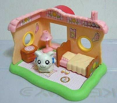 Epoch Hamtaro And Hamster Friends White Bijou Mini House Figure Play Set - Lavits Figure  - 1