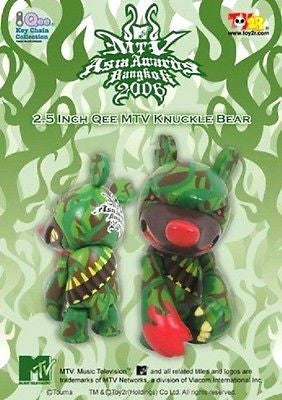 "Toy2R Touma Qee MTV Asia Awards Bangkok 2006 Knuckle Bear 2.5"" Action Figure - Lavits Figure"