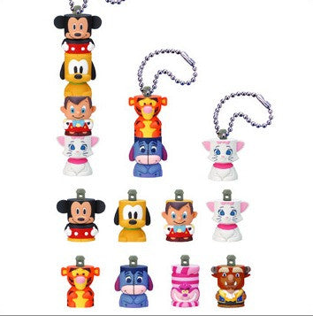Yujin 2004 Disney Gashapon Part 2 8 Swing Strap Figure Set - Lavits Figure