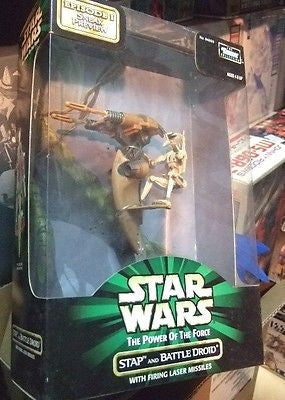 Kenner Star Wars Stap And Battle Droid Potf Firing Laser Missiles Figure - Lavits Figure
