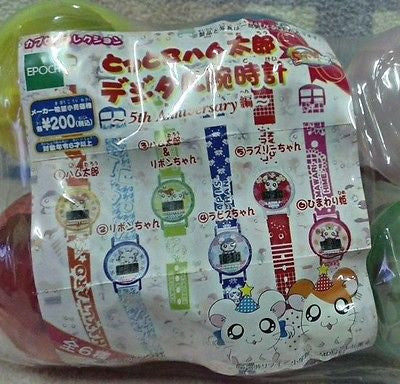 Epoch Gashapon Capsule Hamtaro And Hamster Friends 6 Digital Watch - Lavits Figure  - 1