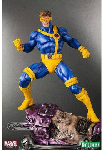 Kotobukiya Fine Arts X-Men Danger Room Session Cyclops Cold Cast Statue Figure Used - Lavits Figure