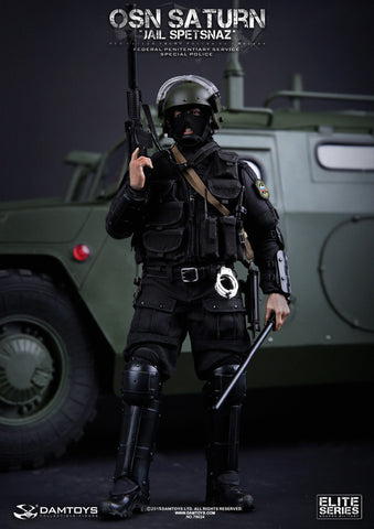 "DamToys 1/6 12"" Elite Series 78024 OSN Saturn Jail Spetsnaz Fsin Special Police Action Figure - Lavits Figure  - 1"
